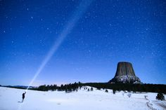 Devils Tower, Wyoming - Devils Tower is a giant igneous intrusion that rises 5,000-plus feet above sea level.