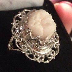 Human Tooth Ring Sterling Silver...I wonder who's teeth they use