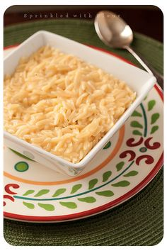 I have very recently fallen for orzo. This recipe is called Easy Cheesy Orzo. I'm gonna try this soon.