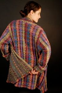 gallery four - arlene wohl hand woven coat.