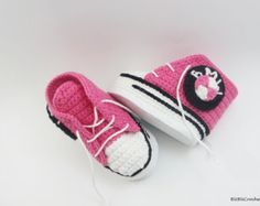 Crochet Baby Booties Crochet baby sneakers crochet by Yunisiya