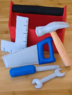 Tool Box Set Hammer Toy Pretend Diy Felt Sewing Pattern