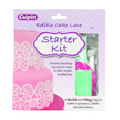 Edible Cake lace kit from Culpitt Focus Magazine, Edible Lace, Lace Decor, Starter Kit, 50th, Create, How To Make
