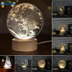 Internal Sculpture Moon Night Light Unicorn Little Prince Table Lamp Abajur LED luminaria Baby Sleeping Nightlight Home Decor(China) Lampe Led, Led Lamp, 3d Laser, Farmhouse Lighting, Light Project, Hotel Lobby, Sculpture, Birthday Diy, Led Night Light