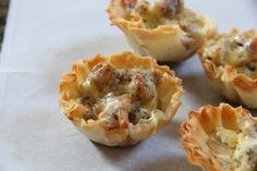 Breakfast Sausage Cups - I added green onion...yum!