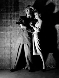 Robert Taylor and Audrey Totter in 'High Wall' (1947) #filmnoir #gun #shadows #photography #classic