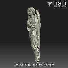 Digitalización 3d de ángel para altar. Vista izquierda
