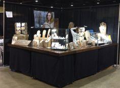 Joy Kruse of Wild Prairie Silver booth setup