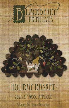 DISCOUNT Primitive Folk Art Wool Applique by PrimFolkArtShop