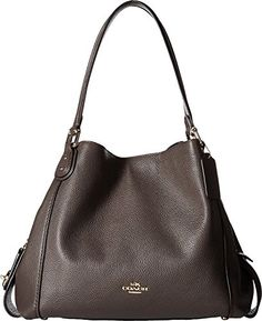 online shopping for COACH Polished Pebbled Leather Edie 31 Shoulder Bag from top store. See new offer for COACH Polished Pebbled Leather Edie 31 Shoulder Bag New Handbags, Coach Handbags, Purses And Handbags, Burberry Handbags, Gucci Bags, Leather Handbags, Hobo Purses, Coach Purses, Coach Bags