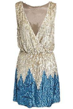 ASOS REVIVE Sequin Wrap Front Mini Dress