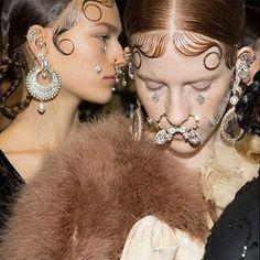 Strange but cool: Pat McGrath's face jewels #Fashion