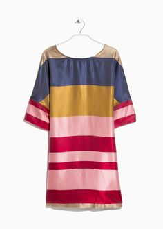 Striped satin dress | MANGO