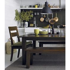 """Basque Honey 82"""" Dining Table in Dining Tables 