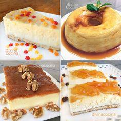 7 tartas de queso fáciles que siempre salen bien Sweet Desserts, Sweet Recipes, Cake Recipes, Dessert Recipes, Cooking Time, Cooking Recipes, My Favorite Food, Favorite Recipes, Cheesecake