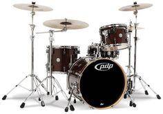 Pacific Concept Maple Drum Kit - 20,12,14,SD- Transparent Walnut - Long & McQuade - DW