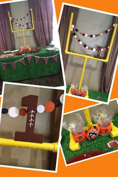 Adventures in crafting, cooking, and couponing!: Auburn Football Tailgate Birthday Party/how we grow pictures Alabama Football, Football Tailgate, Auburn Football, Auburn Game, Football Season, Tailgating, Football First Birthday, Sports Birthday, First Birthday Parties