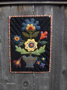 Wool Applique Wall Hanging | Flickr - Wichcraft