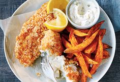 Fish and Chips Health Fish And Chips, Healthy Meals For Kids, Healthy Recipes, Paleo, Weight Loss Meal Plan, Skinny Recipes, Fish And Seafood, Soul Food, Yummy Food