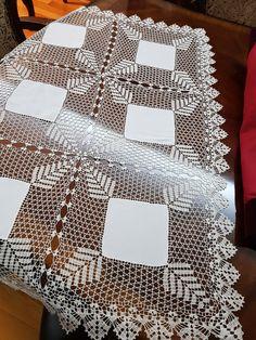 Elegant Filet Crochet Tablecloth For Modern Table Decor – Page 6 – Crochet F Crochet Tablecloth, Crochet Doilies, Hand Crochet, Crochet Lace, Baby Knitting Patterns, Crochet Patterns, Fillet Crochet, Hardanger Embroidery, Crochet Borders