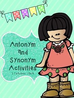 Use this product to get students up and moving while learning about antonyms and synonyms! This includes: matching games, board games, anchor charts, book search, and formal assessments!