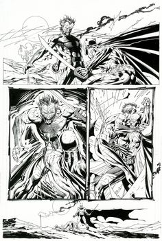 Jim Lee & Scott Williams Batman 616, pg.18. Comic Art
