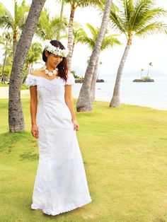 Princess Kaiulani 2121 [Hibiscus&Plumeria / White] Frill Sleeve Dress - Stage Costumes - Hula Supply | AlohaOutlet SelectShop