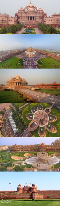 Akshardham is a Hindu temple complex in Delhi, India. Also referred to as Delhi Akshardham or Swaminarayan Akshardham, the complex displays millennia of traditional Hindu and Indian culture, spirituality & architecture. Journey, Places To Travel, Places To See, Travel Destinations, Indian Architecture, Temple Architecture, Amazing India, Hindu Temple, Temples