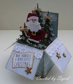 Santa card in a box