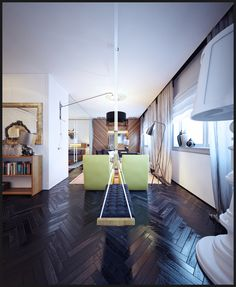 Very talented! Shee House/Loft project by Denis Chigidin, via Behance.