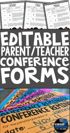Get organized now for parent teacher conferences with conference forms, conference reminders, and a parent teacher conference freebie that will have you organized for conferences in 3 simple steps.