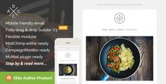 Acdc, Restaurant Email Template + Builder Access • Download theme ➝…