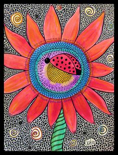 Hey Ladybug Painting by Jo Claire Hall - Hey Ladybug Fine Art Prints and Posters for Sale
