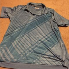 Men's Under Armour heat gear polo Used, men's heat gear Dri fit polo- blue Under Armour Tops Tees - Short Sleeve