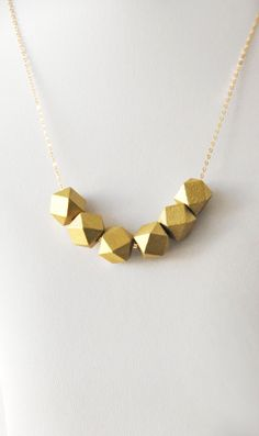 Gold geometric Necklace, golden geometric Necklace, geometric ornament handmade necklace