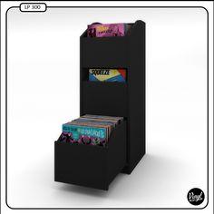 Mueble para discos de 12 capacidad de 550 discos for Mueble 45 cm ancho