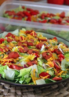 Jo and Sue: Hot Dog Salad With Honey Mustard Dressing  ☀CQ #salad #dressing