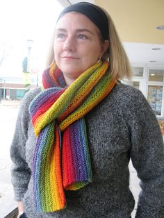 Free Knitting Patterns: Newton 1-ball Scarf from Kauni
