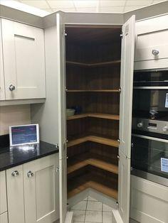 Ideas Kitchen Corner Pantry Cabinet Appliance Garage For 2019 1970s Kitchen Remodel, Cheap Kitchen Remodel, Kitchen Remodeling, Remodeling Ideas, Remodel Bathroom, Ikea Kitchen, Kitchen Decor, Kitchen Ideas, Eclectic Kitchen