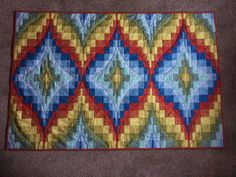 Bargello style quilt made with 2 1/2 inch strips - a workshop sample