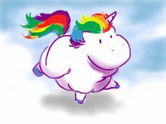 A Very Rainbowy Fat Unicorn