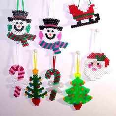 Christmas ornaments perler beads by frankiee0201