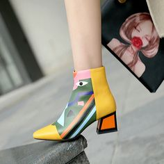 Ankle Snow Boots, Leather Ankle Boots, Leather Heels, Ankle Booties, Women's Boots, Martin Shoes, Wedding Pumps, Shoes Outlet, High Heel Pumps