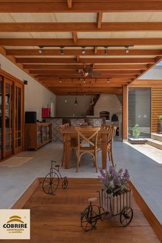 Your complete leisure area. Wooden pergola with natural straw lining. Charm and sophistication. Home Design Decor, Rustic Home Design, Layouts Casa, House Layouts, Rustic Lake Houses, House Front Design, Wooden Pergola, Outdoor Kitchen Design, Modern Farmhouse Decor