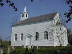 Old St. Edward's Church, Clementsport, Nova Scotia, 1797.