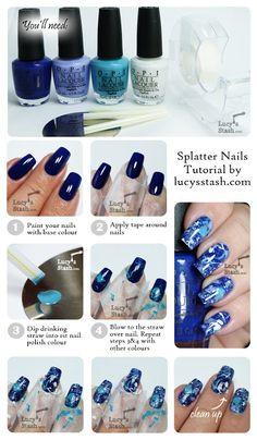 Lucy's Stash - Splatter Manicure tutorial