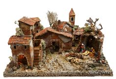 Pueblo con portal (Ref. Portal, Nativity Stable, Ceramic Houses, Diy And Crafts, Images, House Styles, Holiday Decor, Building, Haunted Halloween