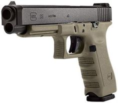 GLOCK 35 in OD green.  Luv=yes.  Want=yes.  Need=nope.  :-(