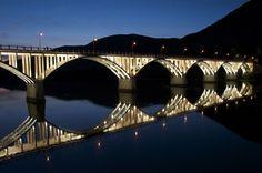 Bridge at Barca d'Alva. Douro, UNESCO World Heritage, home of Portwine - Portugal