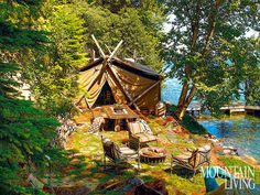 The Lure of the Lake: A Deluxe Tent Encampment